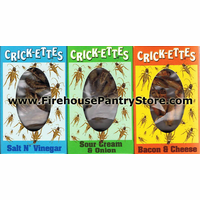 "Crickettes ""Original Cricket Snax"" - 3 Pack - 1 Box of Each Flavor"