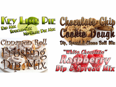 Dessert Dip Mix Sampler Pack (Pick 4 Varieties)