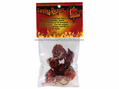 Dried Carolina Reaper Peppers, 1/4 oz. Packet