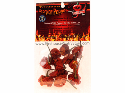 Dried Trinidad Scorpion Peppers, 1/4 oz. Packet