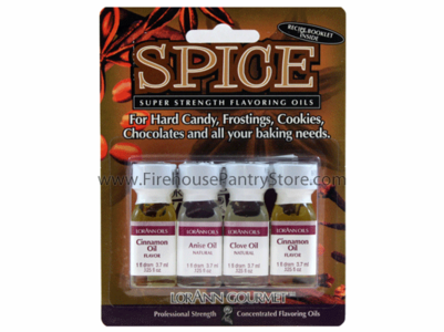 Flavoring Oils, Super Strength, 4 Pack, Spice Collection