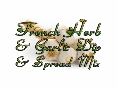 French Herb & Garlic Spread Mix, Case of 24 Packets