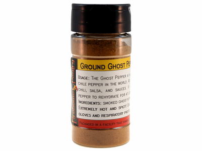 Ghost Pepper (Bhut Jolokia) Ground Chili Pepper Powder in a Spice Jar (1.76 oz.)