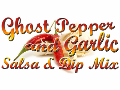 Ghost Pepper & Garlic Salsa, Dip, and Spread Mix, 1 Packet