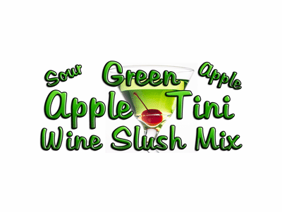 Green Appletini Wine Slush Mix, Single Recipe Package