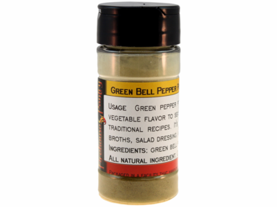 Green Bell Pepper Powder in a Spice Jar (1.94 oz.)