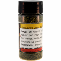 Green Bell Peppers, Dried, Granulated, in a Spice Jar (1.94 oz.)