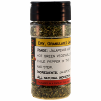 Jalapeno Chili Pepper, Dried, Granulated, in a Spice Jar (1.54 oz.)