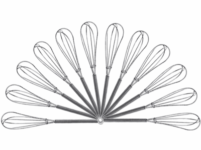 """Mini Chrome Wire Whisk, 4.75"""" or 7"""", Case of 12"""
