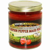 Moruga Scorpion Pepper Mash, Aged, 9 oz. Jar