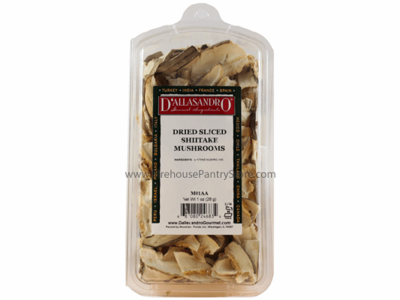 Mushrooms, Dried, Shiitake, 1 oz. in a Resealable Clamshell Package