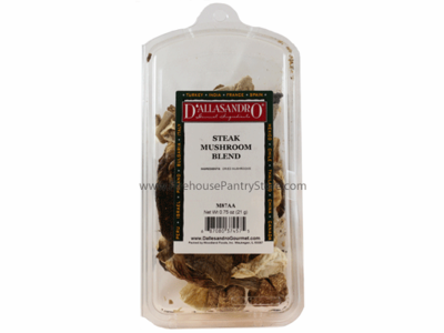 Mushrooms, Dried, Steak Blend, 3/4 oz. in a Resealable Clamshell Package