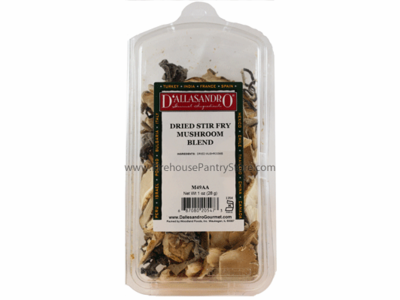 Mushrooms, Dried, Stir Fry Blend, 1 oz. in a Resealable Clamshell Package