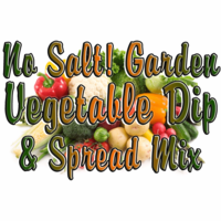 No Salt! Zesty Garden Vegetable Dip & Spread Mix, Case of 24 Packets