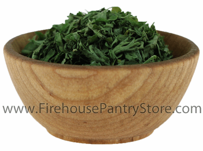 Parsley Leaves, Dried, Granulated, 1 Pound Bulk Bag