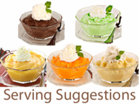 Instant Pudding Mixes, 6 Flavor Options