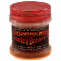 Scotch Bonnet Chili Pepper Powder in a Small Spice Jar (14g)