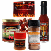 Trinidad Scorpion Sampler Pack (5 Varieties) + FIREHOUSE FREEBIE