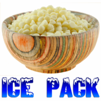 """White """"Chocolate"""" Baking Chips, Miniature, 5 Pound Bulk Bag WITH ICE PACKS"""