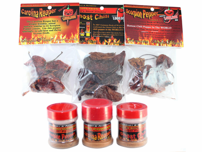 World's Hottest Chili Pepper Sampler (6 Items) + FIREHOUSE FREEBIE