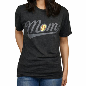 Baseballism Women's Softball Mom T-Shirt SOFTBALL MOM
