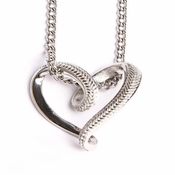 HOF Jewelry Stainless Baseball Stitched Infinity Heart Pendant Necklace