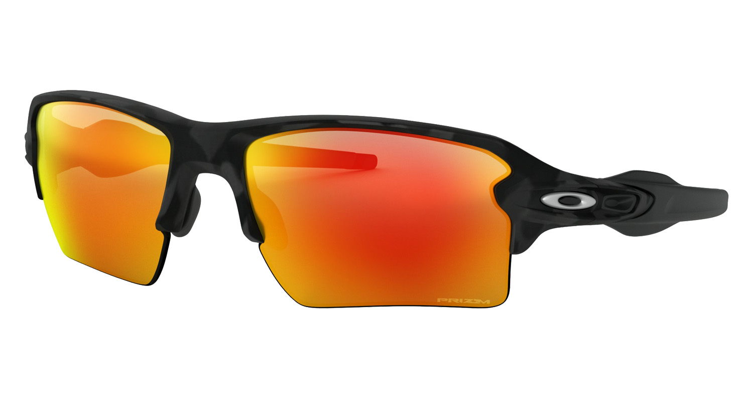 0608b8c1f3 Oakley Flak 2.0 XL Black Camo Collection Prizm Ruby Black Camo Baseball  Sunglasses OO9188-8659
