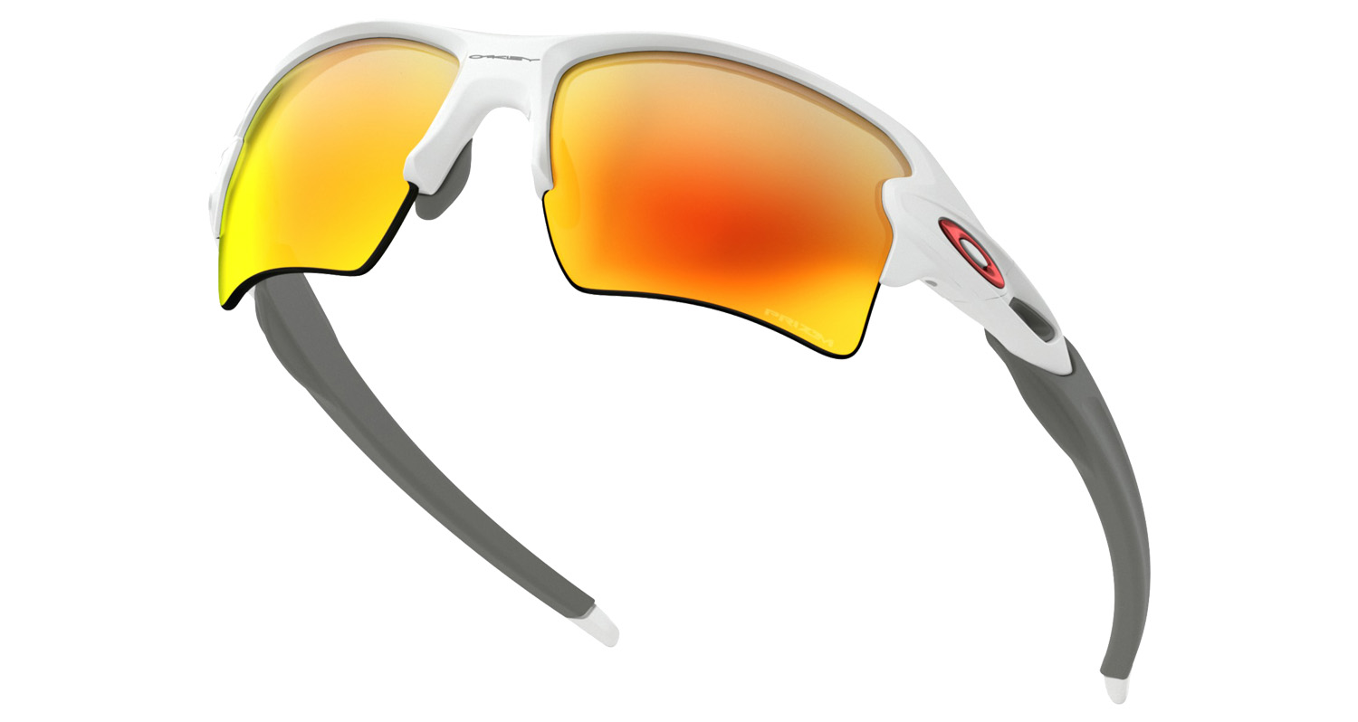 d545c831be424 Oakley Flak 2.0 XL Prizm Ruby Polished White Baseball Sunglasses OO9188-9359