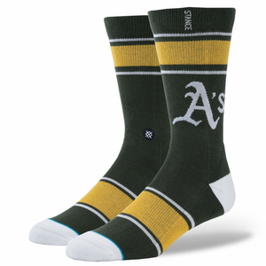 Stance Green and Gold Men's MLB Diamond Socks