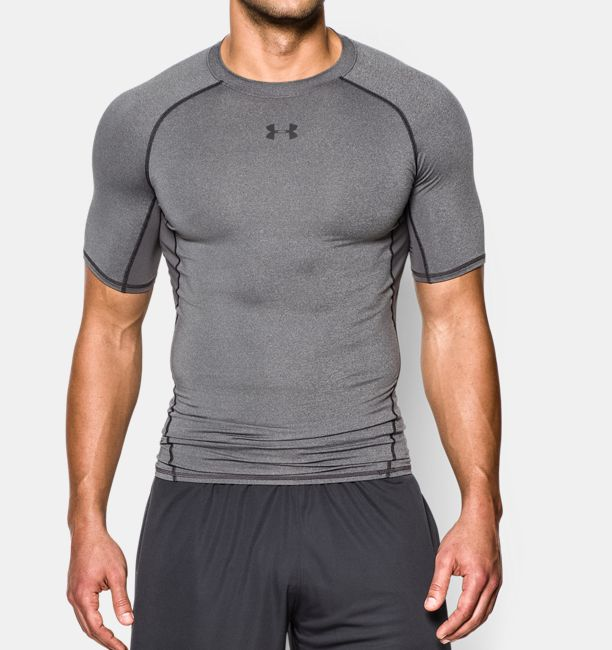 Under armour men 39 s heatgear short sleeve compression shirt for Customized under armour shirts