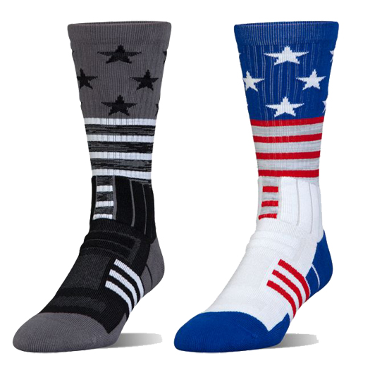 save off 38778 d2d96 ... Under Armour Unrivaled Stars Stripes Youth Crew Socks U381 ...