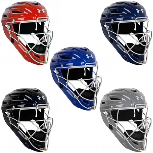 Under Armour Youth Pro Head Gear Catchers Helmet Uahg2 Ys