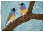 Australian Finches (Small) by Melissa Eisenbach - Pattern only or Complete Rug Hooking Kit