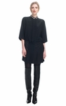 3.1 PHILLIP LIM Mixed Silks Pleated Shirt Dress - 3.15