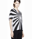 Acne Fay Print Wvn Black white Print T-shirt Top - 5.9
