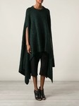 Long poncho sweater