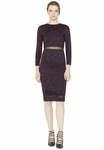 Alice Olivia NARIN SHEER PANEL FITTED DRESS - 9.20