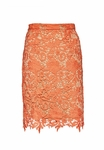 Alice Olivia Orange Farrel Pencil Skirt