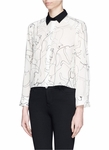 ALICE OLIVIA SHARON CAT PRINT BLOUSE - 5.26
