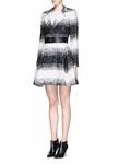 ALICE + OLIVIA THERESE WOOL-MOHAIR BLEND MIDI A-LINE COAT - 9.21