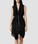 AllSaints Black Lewis Dress - 5.4