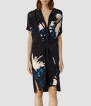 AllSaints Blue Fleet Haze Dress - 5.2