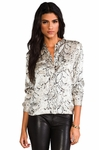 Animal Ava Printed Silk-satin Blouse - 4.5