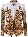 Animal Cheetah Print Blazer (On Sale)