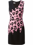 Animal Leopard Print Panel Dress - 7.24