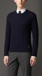 ARAN KNIT WOOL CASHMERE SWEATER - 5.18
