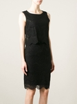 ARMANI JEANS Black layered lace dress - 5.17