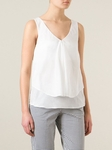 ARMANI JEANS draped sleeveless blouse - 5.17