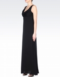 ARMINI LONG SILK DRESS WITH DRAPED NECKLINE (ON SALE) - 3.27