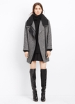 Asymmetric Wool Blend Coat - 10.22